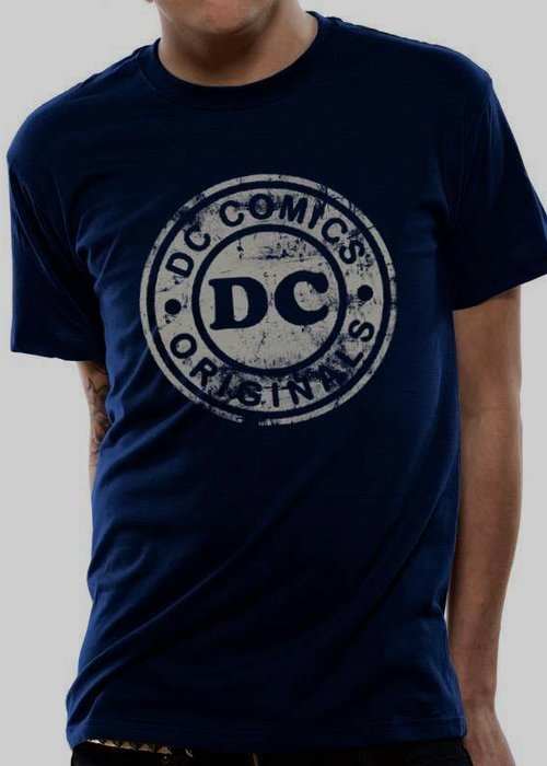 DC Comics DC Washed Vintage Logo | T-Shirt