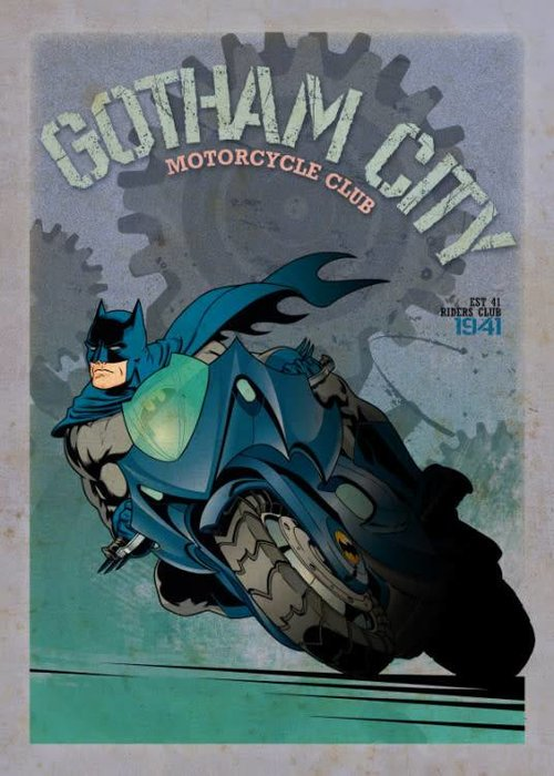 DC Comics Batcycle  | Gotham City Motor Club