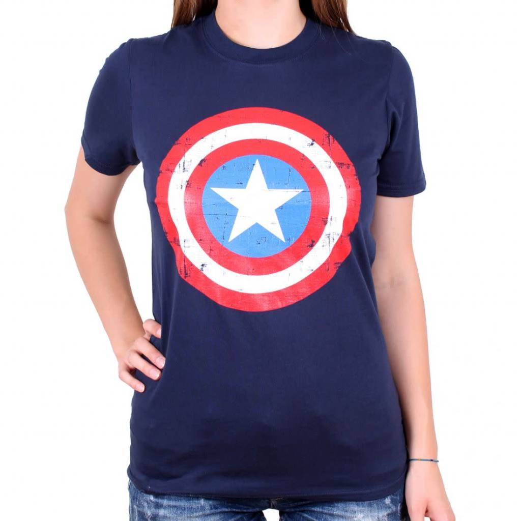 b72d1a37db1 Captain America Shield - Female - T-Shirt - The Lab Merchandise
