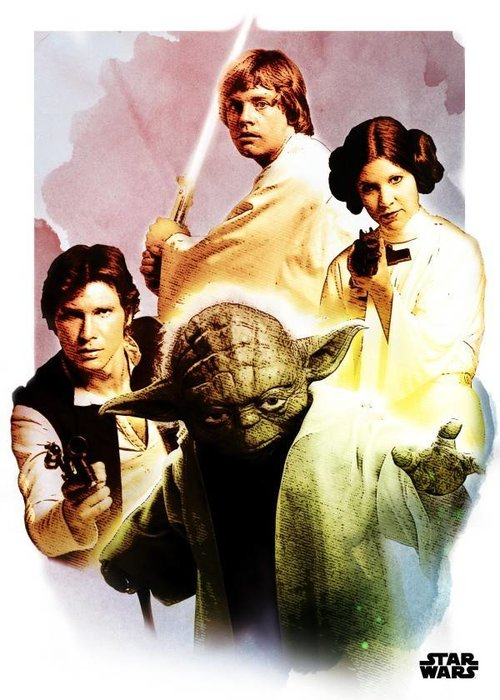 Star Wars The Heroes  | Star Wars Iconic Paintings