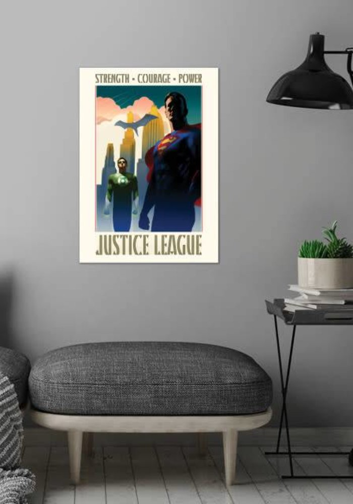 Strength Courage Power  |  Justice League Retro