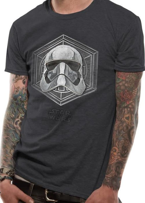 Star Wars Captain Phasma Badge | Star Wars 8 The Last Jedi| T-shirt Grey