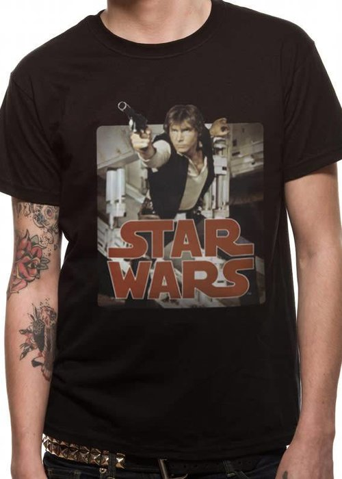Star Wars Han Retro Badge | Star Wars |  T-shirt Black