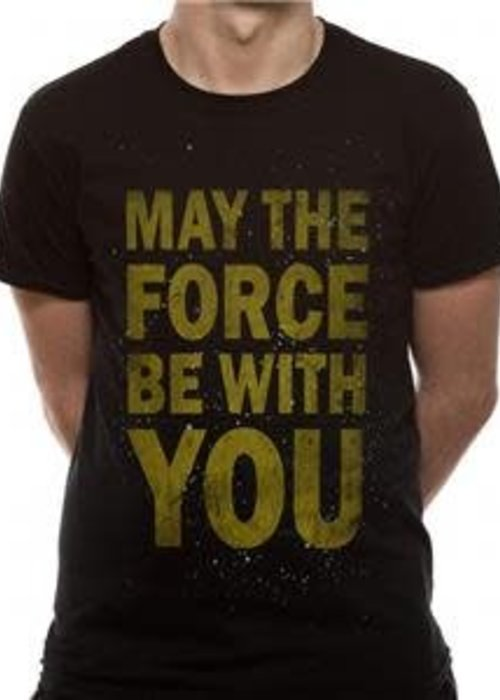 Star Wars Force Text | Star Wars | T-shirt Black