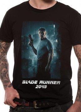 Deckard Full Shot White Logo   Blade Runner 2049   T-shirt Black