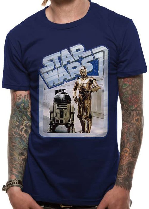 Star Wars Droids Retro Badge | Star Wars | T-shirt Blue