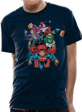 DC Comics Pow | Justice League | T-shirt Navy