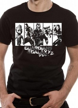 Marvel Strips Silver | Guardians Of The Galaxy Vol. 2 | T-shirt Black