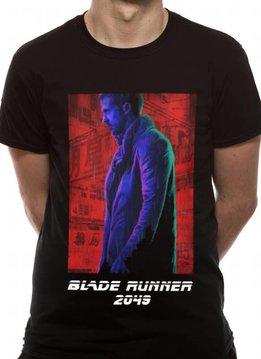 Agent K Neon   Blade Runner 2049  T-shirt Black