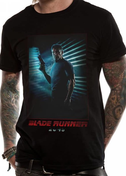 Deckard Full Red | Blade Runner 2049 | T-shirt Black