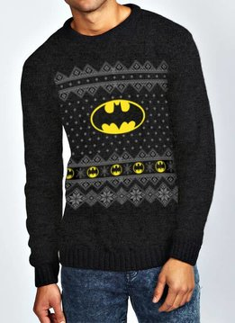 DC Comics Logo | Batman | Knitted Jumper Black