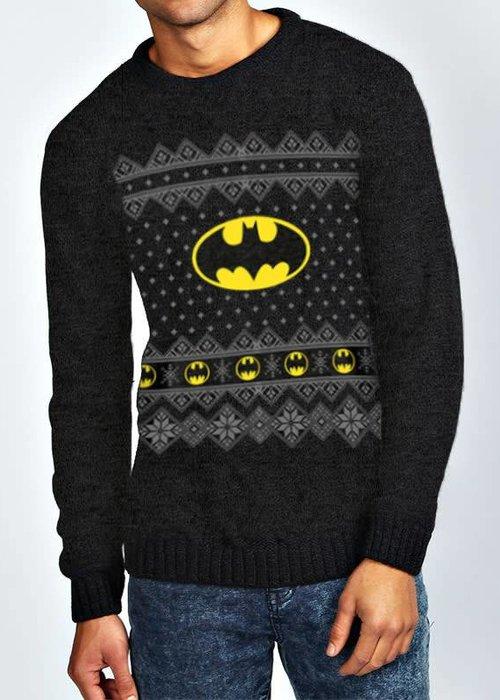 DC Comics Logo | Batman | Knitted Jumper Black