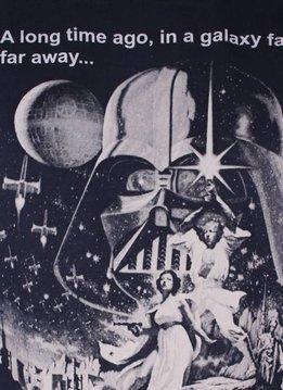 Star Wars Vintage Poster - Star Wars - T-shirt Blue