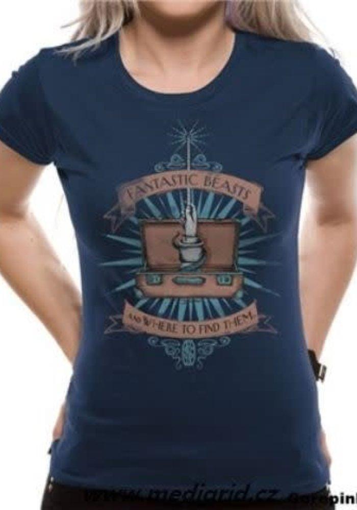 Magic Wand - Fantastic Beasts - Female T-Shirt Blue