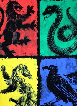 Harry Potter Four Symbols | Harry Potter | T-shirt Black