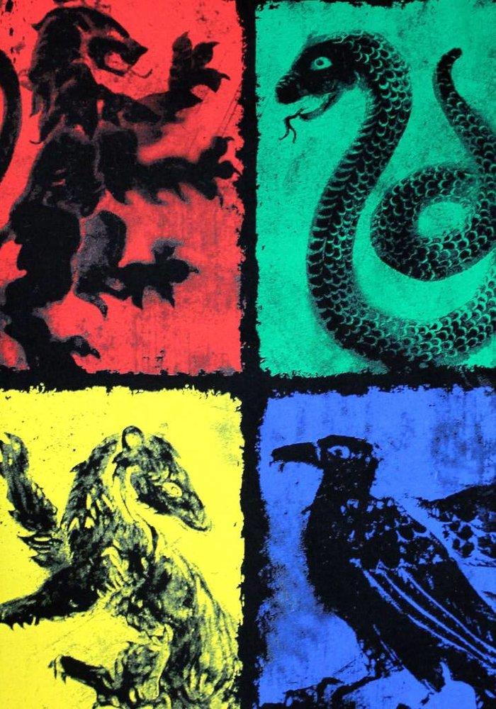Four Symbols | Harry Potter | T-shirt Black