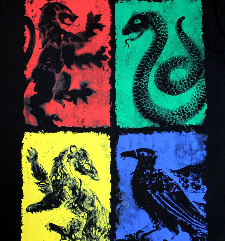 Harry Potter Four Symbols - Harry Potter - T-shirt Black
