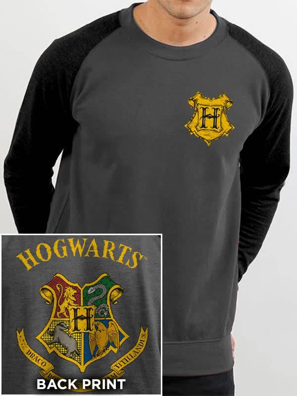 Harry Potter Hogwarts Color Crest - Harry Potter - Sweater Grey
