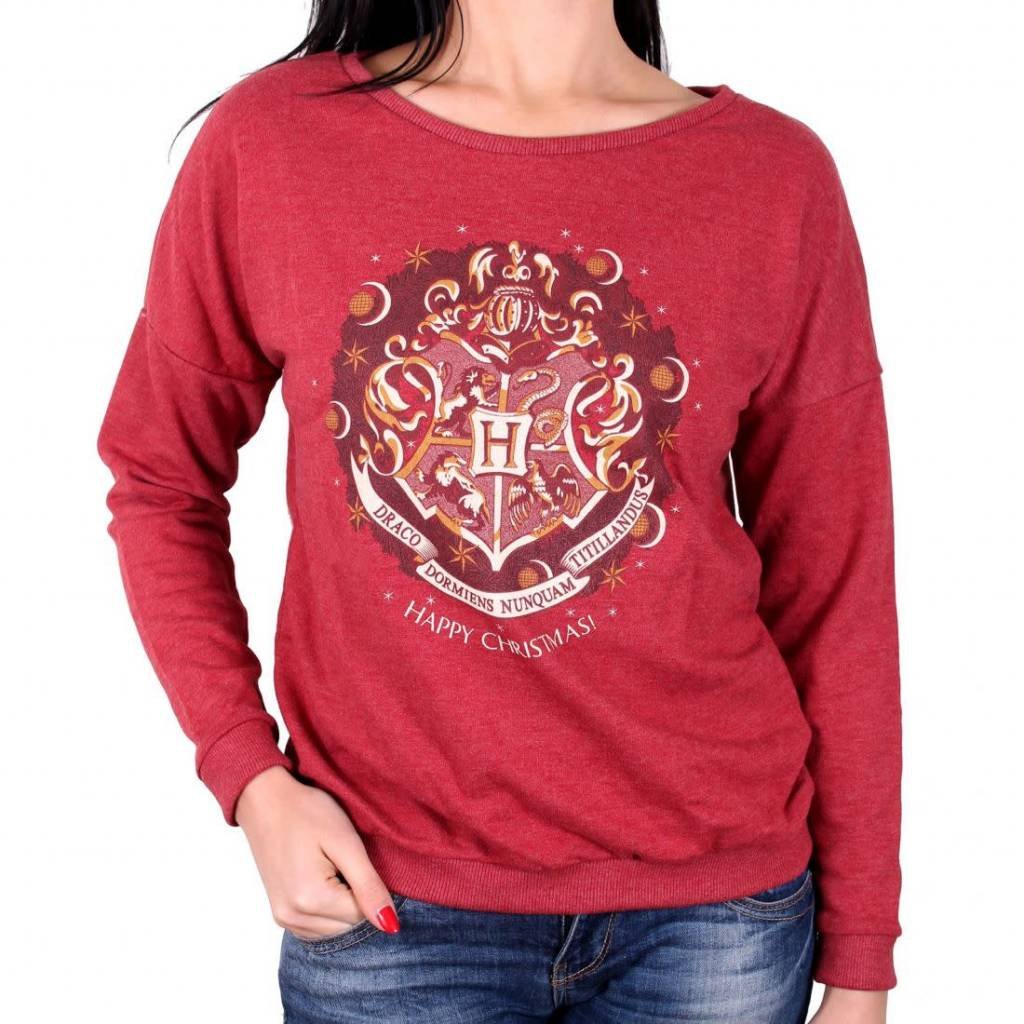 Harry Potter Happy Christmas - Harry Potter - Female Sweater Red