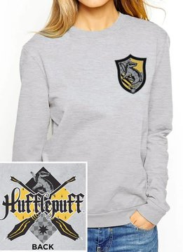 Harry Potter House Hufflepuff | Harry Potter | Female Sweater Grey