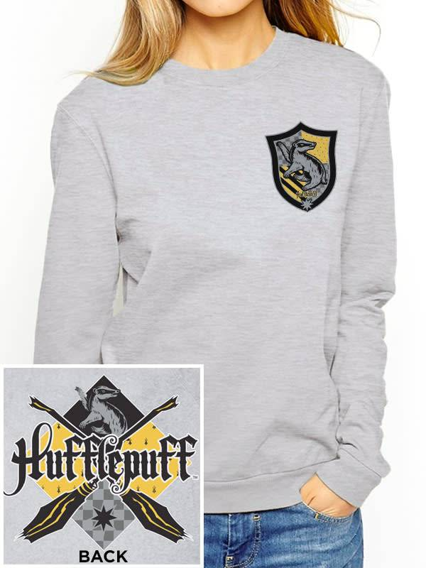 Harry Potter House Hufflepuff - Harry Potter - Female Sweater Grey