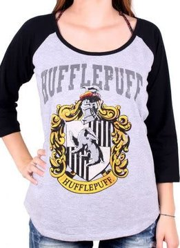 Harry Potter House Hufflepuff - Harry Potter - Female T-shirt Grey