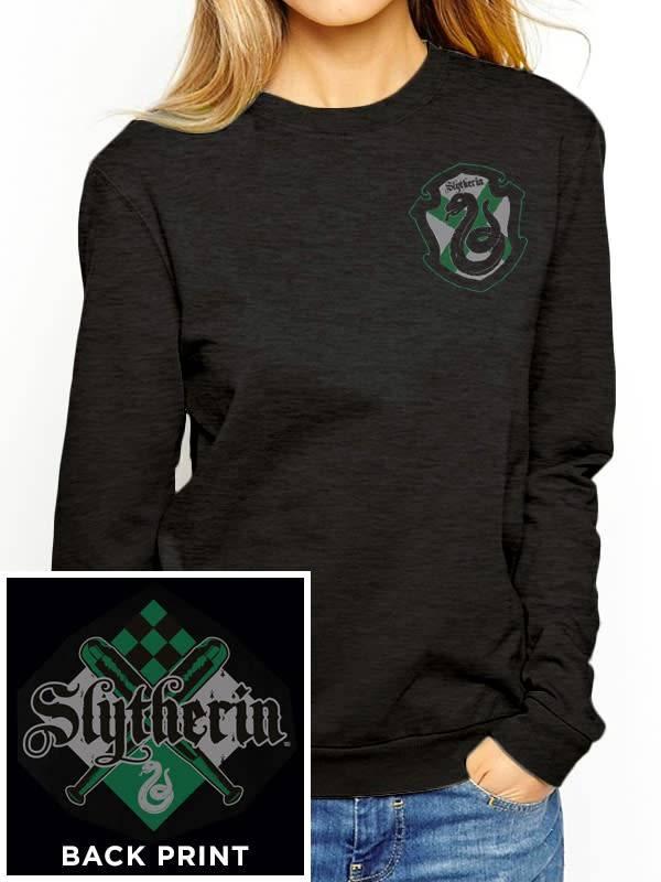 Harry Potter House Slytherin - Harry Potter - Female Sweater Black