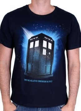Dr Who In Space - Doctor Who - T-shirt Blue