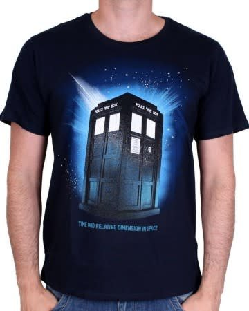 In Space - Doctor Who - T-shirt Blue