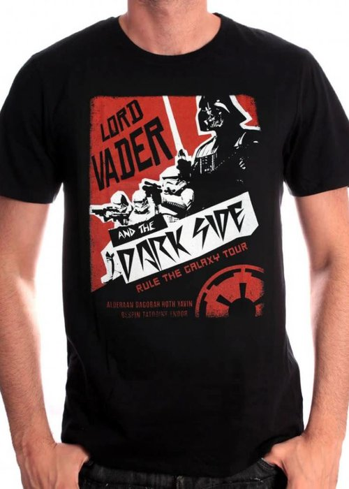 Star Wars Lord Vader & The Dark Side | Star Wars | T-shirt Black