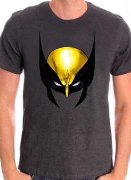Marvel Wolverine Face - X-Men - T-shirt Grey