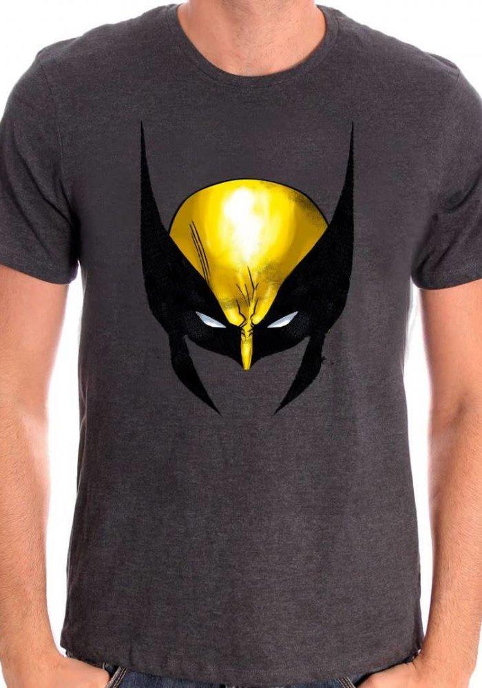 Wolverine Face - X-Men - T-shirt Grey