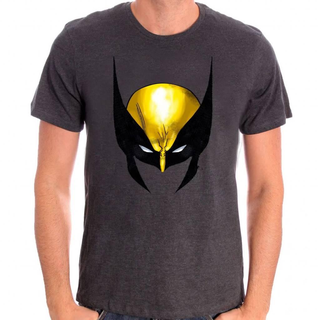 Marvel Wolverine Face - X-Men - T-shirt Grey