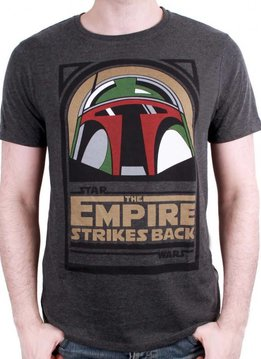 Star Wars Boba Empire Strike Back - Star Wars - T-shirt Grey