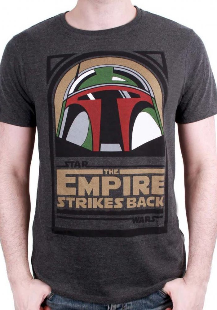 Boba Empire Strike Back | Star Wars | T-shirt Grey