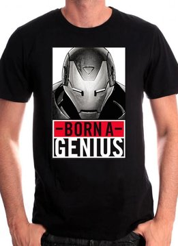 Marvel Born A Genius - Iron Man - T-shirt Black