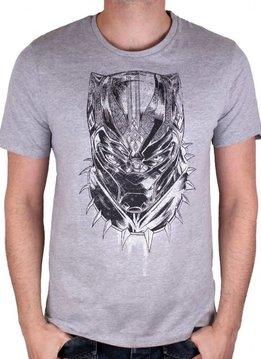 Marvel Black Panther Face - T-shirt Grey