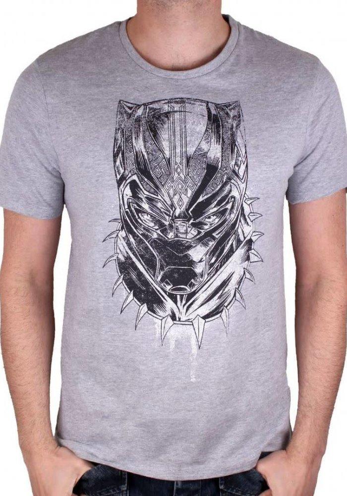 Black Panther Face - T-shirt Grey