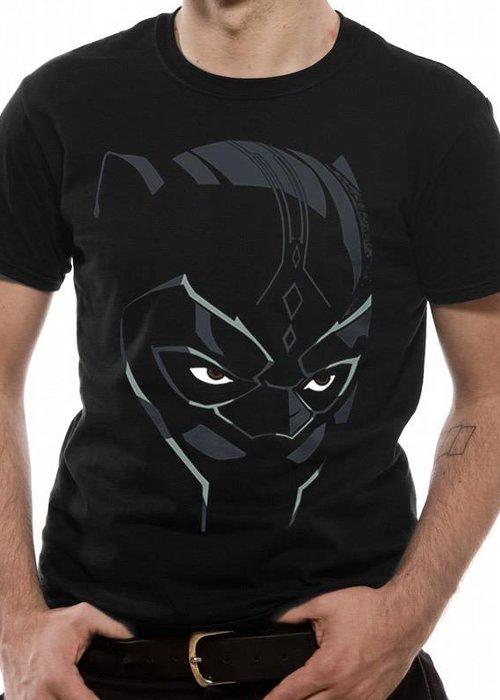 Marvel Black Panther - Comic Face - T-shirt Black