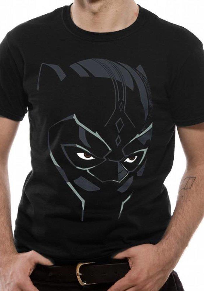 Black Panther - Comic Face - T-shirt Black