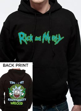 Rick and Morty Riggity Riggity Wrecked - Rick & Morty - Hoodie Black