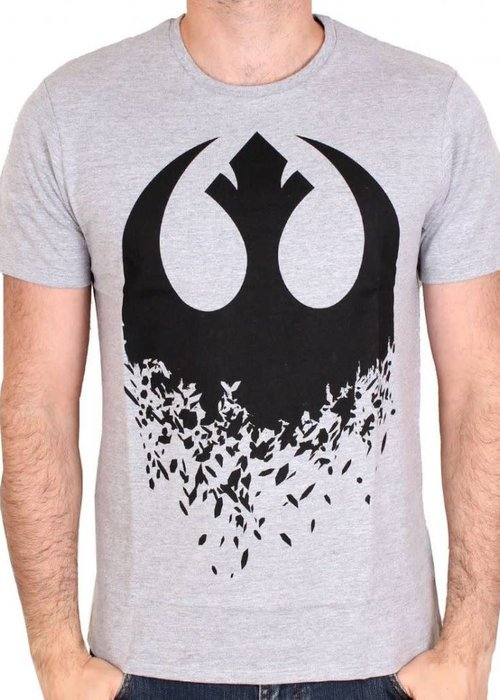 Star Wars Star Wars 8 - Logo Rebel - T-shirt Grey