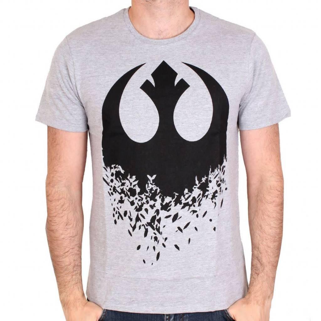 Star Wars Star Wars 8 - Logo Rebel - T-shirt Grey