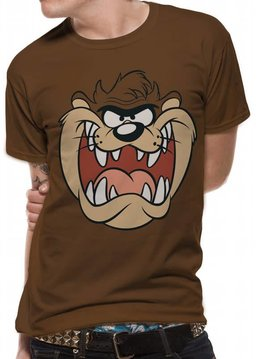 Looney Tunes Taz Face - Looney Tunes - T-shirt Brown
