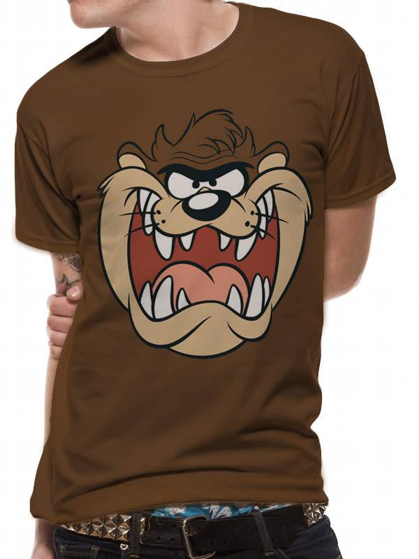 Taz Face - Looney Tunes - T-shirt Brown