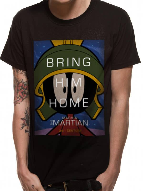 The Martian - Looney Tunes - T-shirt Black