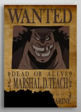 Bounty of Black Beard   One Piece Wanted   Displate
