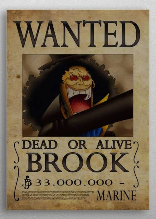 Nicolas Massot Wanted of Brook from One Piece  | Brook Wanted