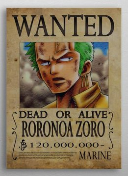 Wanted poster of Roronoa   One Piece Wanted   Displate