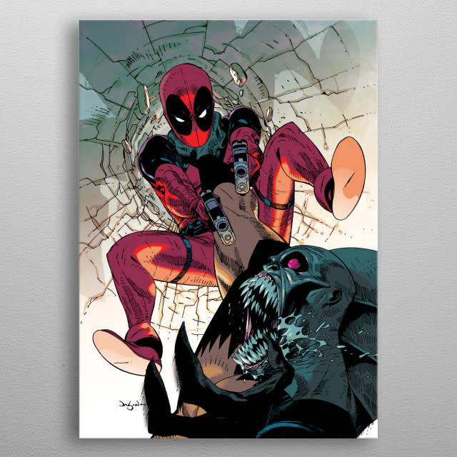 Marvel Say hello to my little friend | Deadpool Melting Pot | Displate